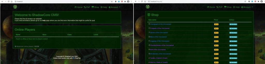 WoW Shadowlands Emulator Server - ShadowcoreCorecms
